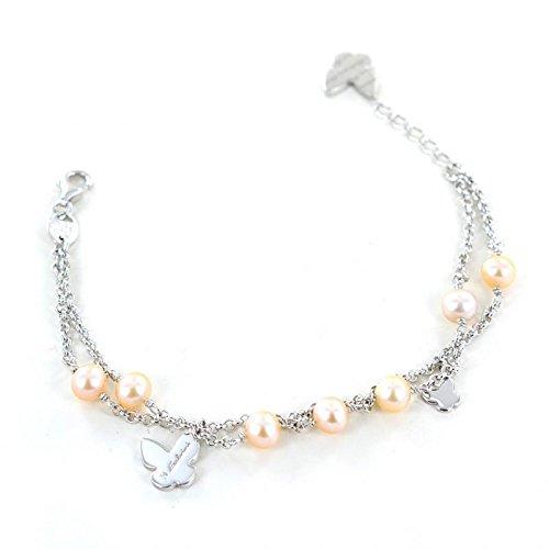 Bracciale in argento 925 e perle freschwater Salvini gioielli