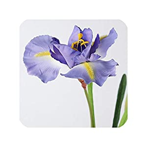 NA 3 Heads Silk Iris Artificial Fake Flowers Real Touch Artificial Plants Party Wedding Flowers Home Table Vase Decoration Flores