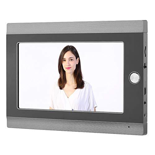 Draadloze video-deurbel, kijkgaatje, digitale deurbel met 7 inch wifi-kabel (EU-stekker)