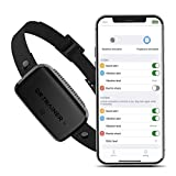 Dr.Trainer B1s Dog Bark Collar with APP Control, Waterproof Dog Training Collar, 3 Training Modes (Vibration/ Beep/ Shock Modes) Adjustable 0~99 Static Level Rechargeable Dog Barking Collar