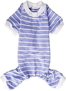 Lanyarco Striped Shirt Pajamas Clothes for Pet Cat Dog
