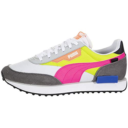 Puma - Womens Rider Play On Wn¿S Shoes, Size: 10 B(M) US, Color: Puma White/Castlerock/Yellow Alert