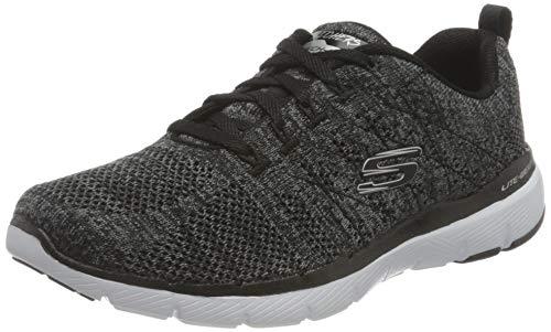 Skechers Flex Appeal 3.0-High Tides, Zapatillas Mujer, Blanco y Negro, 39 EU