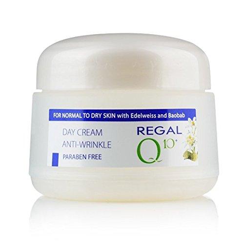 Crème de jour anti-rides avec l'huile de baobab et Edelweiss pour peau normale à sèche, Regal Q10+.