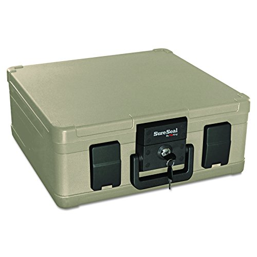 SureSeal by FireKing SS103 1/2 Hour Fireproof Waterproof Safe Chest, Fits Letter and A4 Sized Documents, 0.27 CU FT Storage Capacity