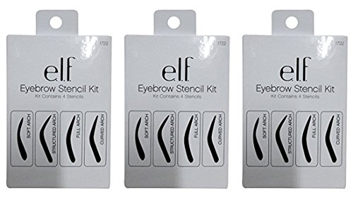 e.l.f. Eyebrow Stencil Kit, 3 Pack