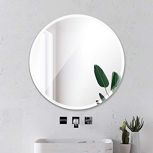 Beauty4U Round Beveled Frameless Wall Mirrors - 24