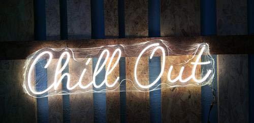Cartel led sumergible decoración exterior'CHILL OUT' 100x27 cm