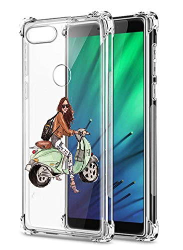 Suhctup Coque Filles Compatible pour Xiaomi Redmi Note 8,Etui [Antichoc Airbag] Transparent Silicone TPU Souple Mode Motif Crystal Housse de Protectio