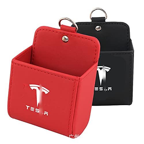 LSQJNDM para Tesla Air Outlet Gafas De Sol Soporte para TeléFono Celular Bolsa De Bolsillo Caja De Almacenamiento Ordenado Estuche para Llaves con Gancho