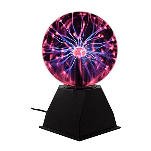 Plasma Ball Light 6' inch Interactive Touch Responsive Lamp Tesla Coil Lightning Effect Science Educational Fun Gift (6 Inch)