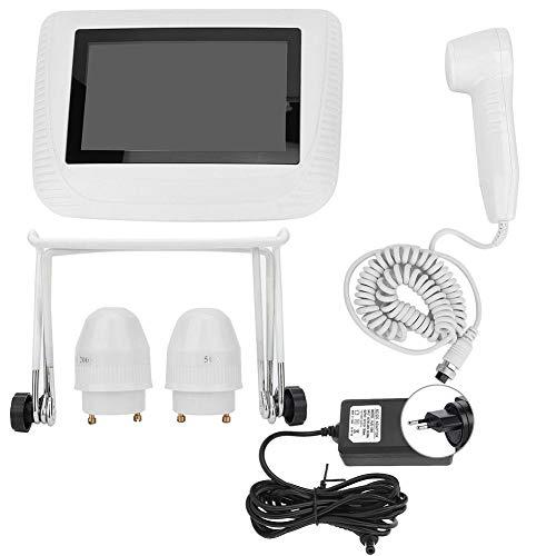Wiederaufladbarer Kopfhaut-Haarfollikel-Detektor, 5-Zoll-Öl-Feuchtigkeits-Vergrößerungs-Analysator-Haut-Pigment-Prüfvorrichtung(EU-Stecker)