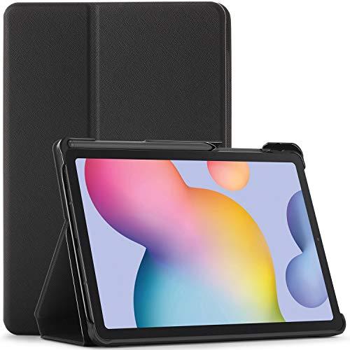 FC Funda para Samsung Galaxy Tab S6 Lite - Galaxy Tab S6 Lite 10.4 Funda con S Pen Soporte - Negro - Delgado, Auto Sueño Estela Función, Samsung Galaxy Tab S6 Lite 10.4 Pulgadas Funda, Case, Cover