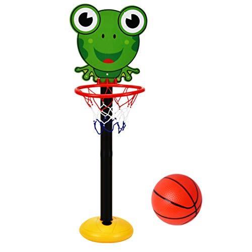 TOYANDONA 1 Juego de Aro de Baloncesto para Niños Juguete de Dibujos Animados de Interior Puntaje Fácil Aro de Baloncesto Soporte de Baloncesto Ajustable Regalo Deportivo para Bebés (Rana)