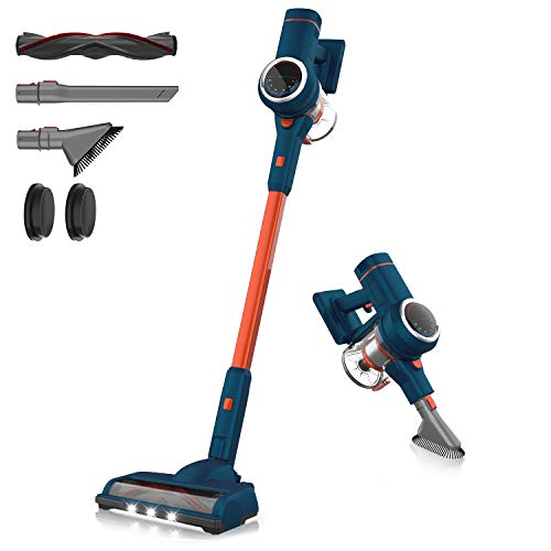 test & Vergleich ORFELD Cordless Vacuum Cleaner, 20,000 Pa Cordless Vacuum Cleaner, 5 in 1, 3 Gears, 6 Stage Filtration, 40 Minutes Run Time for Complete Cleaning of the Whole House – Vertical Design