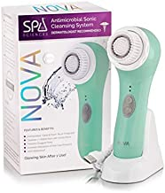 Spa Sciences NOVA – Better than a spin brush – Patented Antimicrobial Sonic Facial Cleansing Brush & Exfoliating System | All Skin Types | 3 Speeds | Waterproof | USB Rechargeable w/charging base