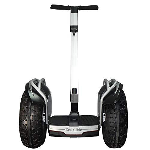 eco-glide Smart Self Balance Scooter Personal Transporter 19 inch All Terrain Tires (Silver)