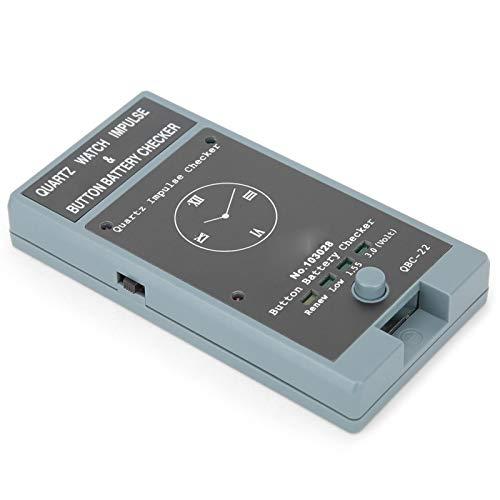 SALUTUYA Tragbare Mini-Batterie mit 2 x 1,5 V und langlebigem Knopfbatterietester für Uhrmacher und Uhrmacher