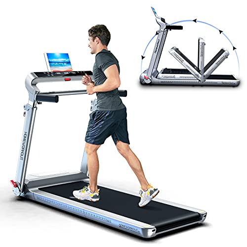 Folding Treadmill 300 lb Capacity Electric Treadmill for Home Use with LCD Display, Device Holder, 36 Pre-Set Programs for Indoor Exercise