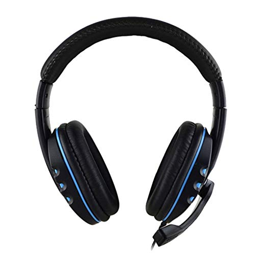Idyandyans Over Ear Gaming Auriculares Mobile Computer Subwoofer Mic Gaming Auriculares Gaming Headset Gaming Auriculares Repuesto para PS4