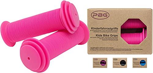 PBG Kinderfahrradgriffe Fahrradgriffe Kinder für Mädchen Jungen schadstofffrei | Phthalate frei Pink (Rosa)