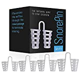 Anti Snoring Nose Vents - Best Sleep Solution for Instant Relief Snore Stopper Sleeping Aid to Ease Breathing Men and Woman by SnorePin (4 Sizes)