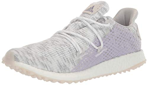 adidas Women's W Crossknit DPR Golf Shoe, FTWR White/Glory Purple/Purple Tint, 9.5 Medium US