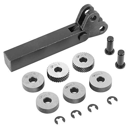 7 stücke Rändelwerkzeug Schwarz Stahl Rändel 0,5/1 / 2mm Diagonale Dual Linear Rad Für Bearbeitungsmaschine Oberflächenmuster