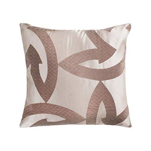 SaRani - Par de fundas de cojín, diseño abstracto, color marrón, con cremallera