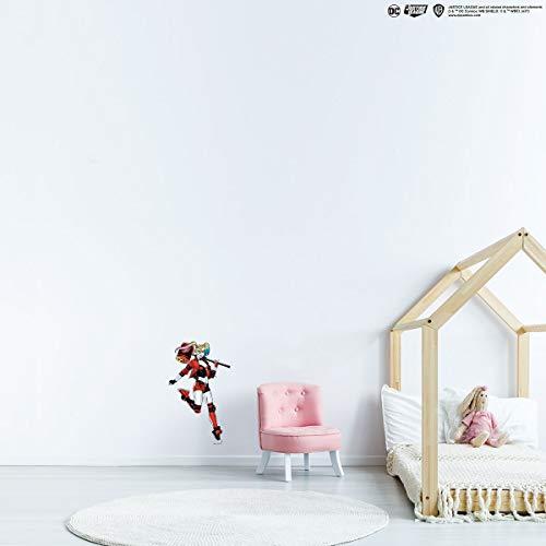 Kismet Decals Adhesivo decorativo para pared, diseño de Harley Quinn Martillo de la Liga de la Justicia