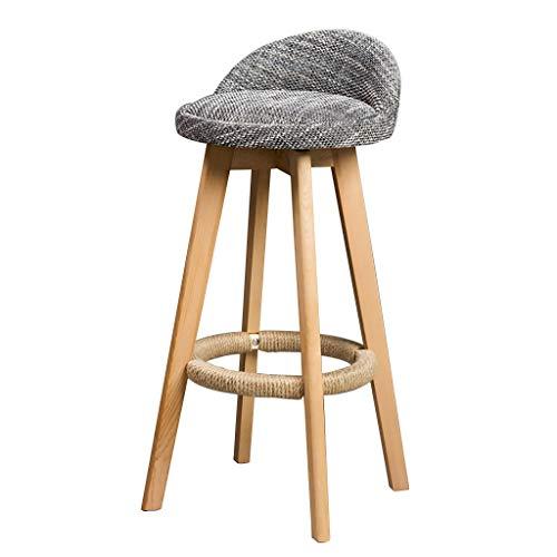 Tabouret tournant de Bar, tabourets Hauts Modernes en Bois Plein, chaises ergonomiques de Dossier conçues for Le Restaurant, Le Bureau, Le comptoir et la Famille (Color : A)