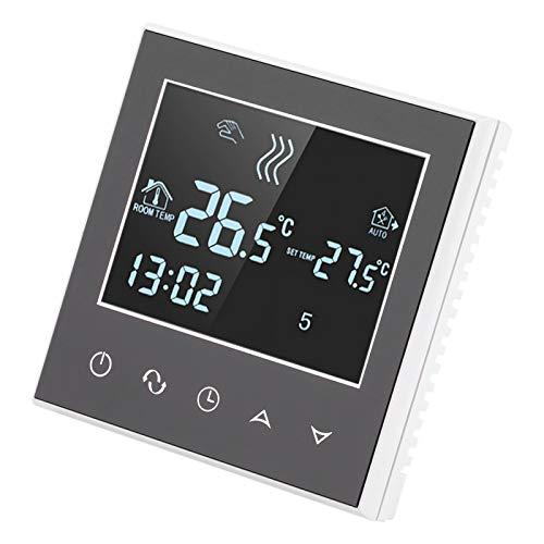 Emoshayoga Termostato LCD inalámbrico Seguro y confiable para Usar Control de teléfono móvil