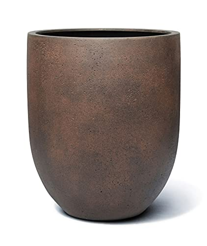 VAPLANTO® Pflanzkübel Tall Egg Pot 40 Rost Braun Rund * 40 x 40 x 47 cm * 10 Jahre Garantie