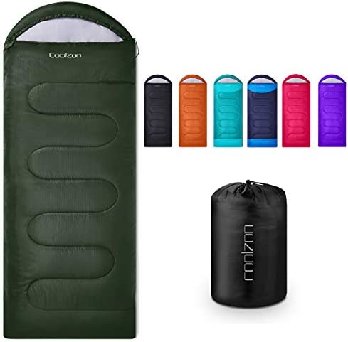 Coolzon Lightweight Backpacking Sleeping Bag for Adults Boys and Girls, Cold Weather Kids Sleeping Bag for All Season Hiking & Camping