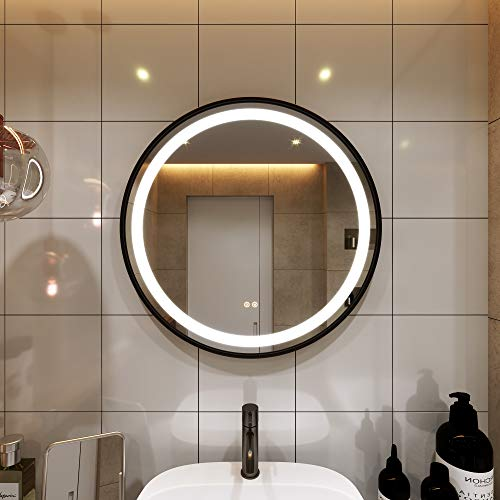 PetusHouse Round LED Lighted Bathroom Mirrors