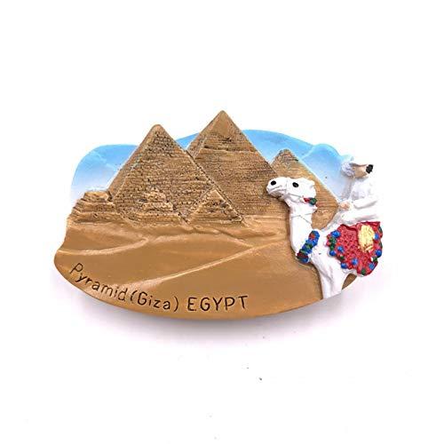 LIANYG Pegatina de Nevera de Recuerdo turístico faraón Momia pirámide Nevera 3D Gato Negro Cleopatra imanes de Nevera Pegatina