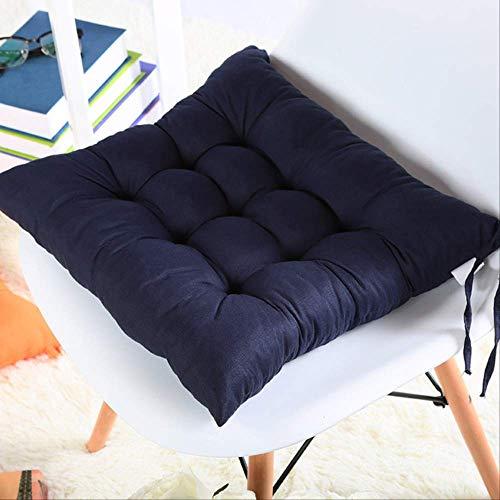 Suave decoración de la oficina en el hogar cojín de asiento de algodón cuadrado estera de nalgas almohadillas de cojín de silla almohada para silla de computadora de oficina 40x40cm azul profundo 11