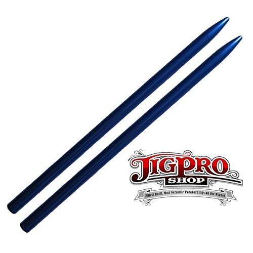 "2 Pack - 3 1/2"" Type II (Mid-Sized /""Manny Method"") Aluminum Paracord Stitching Needle by Jig Pro Shop (Blue)"