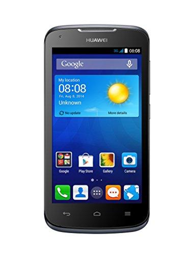 Huawei Y540 Smartphone (11,4 cm (4,5 Zoll) Display, 1,3 GHz-Dual-Core Prozessor, 5 Megapixel-Kamera, 4 GB interner Speicher, Dual-SIM, Android 4.4) schwarz