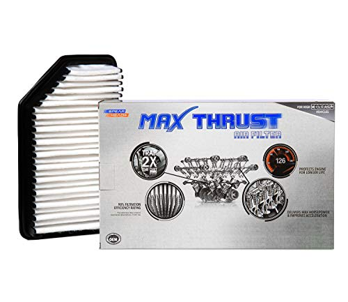 Spearhead Max Thrust Performance Engine Air Filter For All Mileage Vehicles - Increases Power & Improves Acceleration (MT-206)