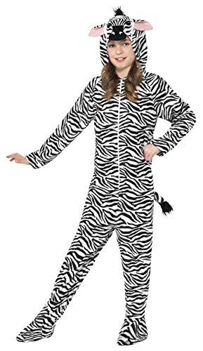 Smiffys Smiffy's BR27990XL Zebra-Kostüm, Unisex Kinder, Schwarz, Teen Boy-12 Years +