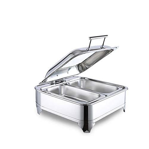 Aprilhp Chafing Dish Calentador Para Buffet Set, Calentadores de Comida y de...