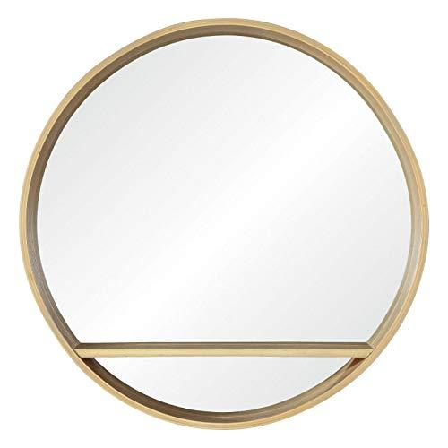Miroir Rond avec Étagère Bois D60 cm OBLO
