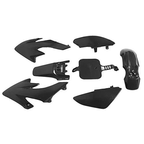 ABS Plastic Fender Fairing Body Work Kit Set Front Rear Fender Fairing Kit Mudguard Fit for Honda XR50 CRF50 SDG SSR YCF IMR Atomik Thumpstar BSE 107 125(Black)
