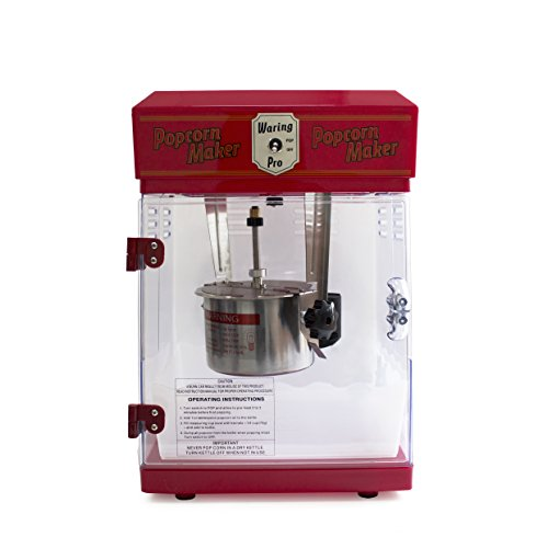Waring Pro WPM25 Professional Popcorn Maker, Red