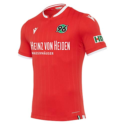 Macron Fanartikel Hannover 96 · H96 Bundesliga Trikot Home 20-21 · Bekleidung Oberteil Hemd Jersey Shirt Heimtrikot · Unisex Damen Herren Frauen Männer · Saison 2020-2021, Erwachsene, Größe XL