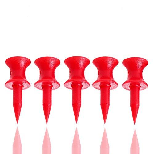 FINGER TEN Golf Tees Tee Kunststoff Wert 60 Count 70 57 50 44 38 31mm Blua Rot Hot Pink Orange Gelb Weiß Wählen Sie Ihre Farbe und Größe (Rot-1 1/4