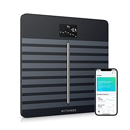 Withings Body Cardio - Balance connectée Wi-Fi impédancemètre avec composition corporelle (Masse...