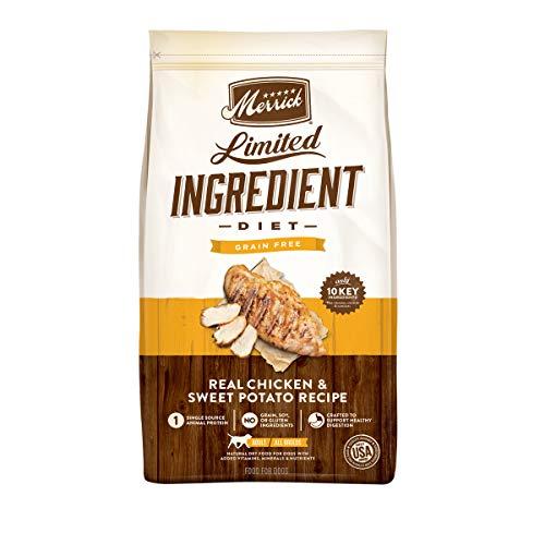 Merrick Limited Ingredient Diet Grain Free Dry Dog Food Real Chicken & Sweet Potato Recipe - 22 lb. Bag