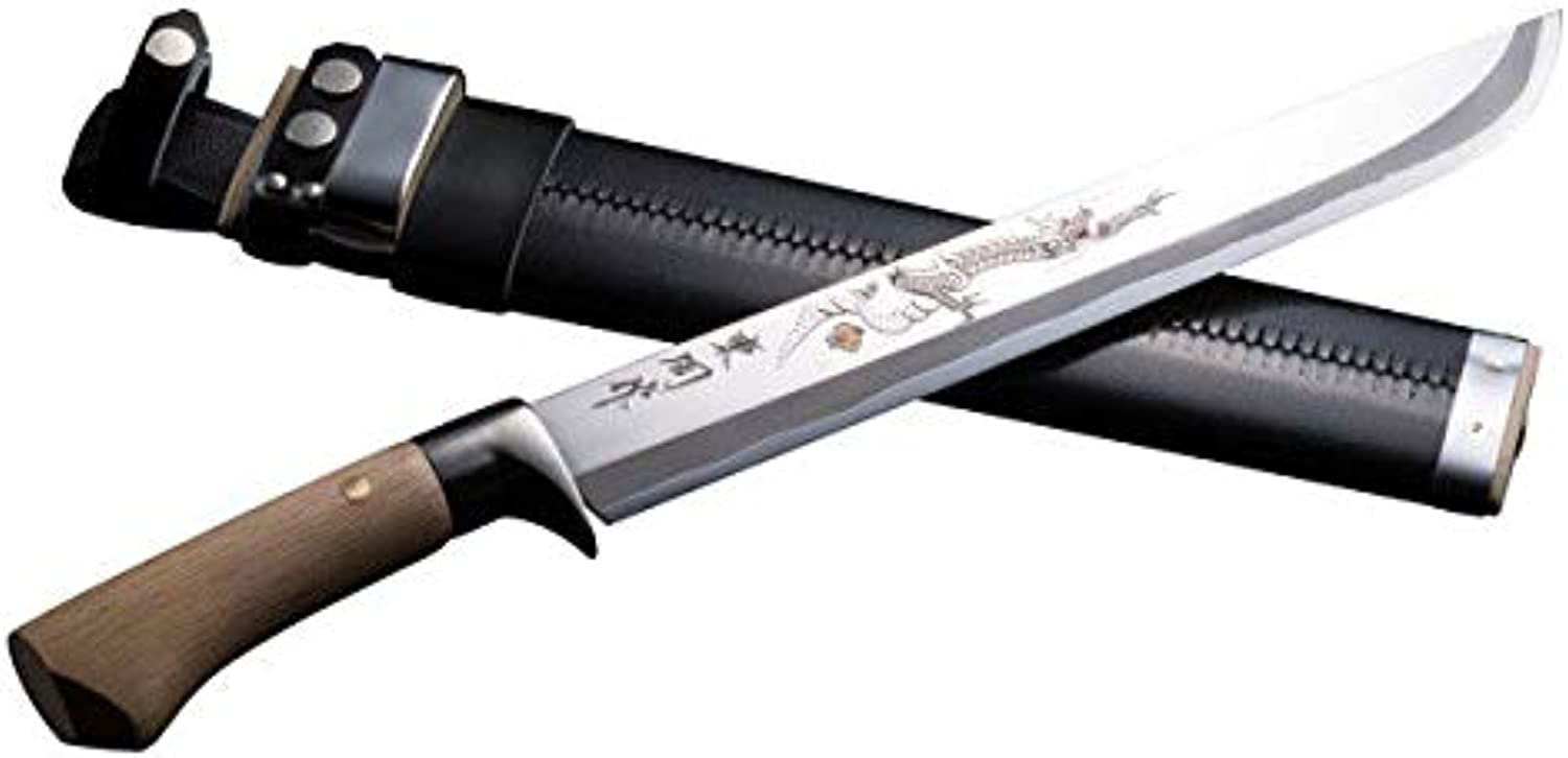 Hunting Knife Carving of Dragon 300mm, Japanese Outdoor Sword
